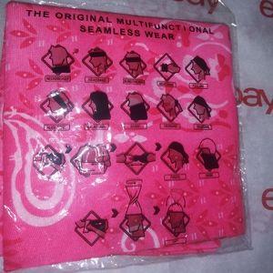Other - PINK Bandana STYLED Headband MULTI - Use FACEMASK
